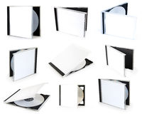 Collection cd boxes Royalty Free Stock Images