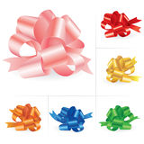 Collection of celebratory bows #3 Royalty Free Stock Photos