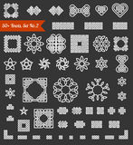 50+ collection of Celtic, Chinese and other knots and design elements for use in your creative projects. Set No.2. Vector. Royalty Free Stock Photos