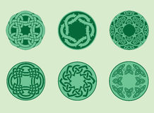 Collection of celtic elements Stock Photos