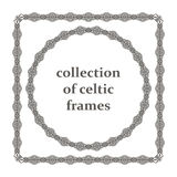 Collection of celtic frames Royalty Free Stock Image