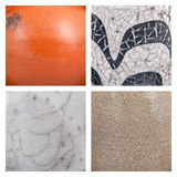 Collection of ceramic background or texture Stock Image