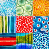 Collection of ceramic textures Royalty Free Stock Images