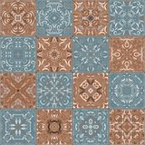 Collection of different vintage tiles Royalty Free Stock Photo