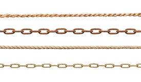 Chain and rope Royalty Free Stock Image