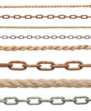 Chain and rope Royalty Free Stock Photography