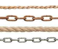 Chain and rope Royalty Free Stock Photos