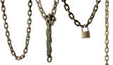 Collection Of Chains Royalty Free Stock Photography