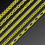 Collection of chains Stock Photos