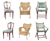 Collection of chairs Stock Photo