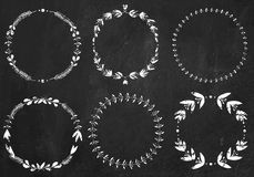 Collection of chalk  laurel wreaths Stock Photo