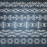 Collection of chalkboard borders Royalty Free Stock Photography