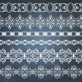 Collection of chalkboard borders Stock Image