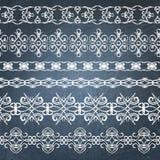 Collection of chalkboard borders Stock Image
