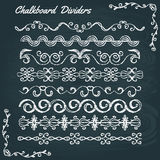 Collection of chalkboard dividers stock illustration