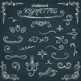 Collection of chalkboard vignettes royalty free illustration