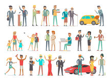 Collection of Characters of Different Social Level Royalty Free Stock Images