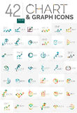 Collection of chart logos Royalty Free Stock Images