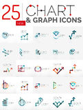 Collection of chart logos Royalty Free Stock Photography
