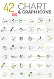 Collection of chart logos Royalty Free Stock Photo