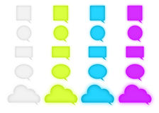 Chat logo speech bubbles. Collection of chat logo with colorful speech bubbles Stock Images