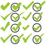collection check marks Royalty Free Stock Photography