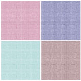 Collection of checkered seamless patterns Stock Photos