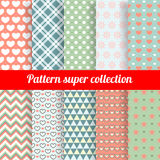 Collection of Chic Vector Seamless patterns royalty free illustration