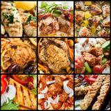 Collection of chicken meals. Royalty Free Stock Photo