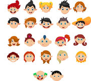 Collection of children with different hairstyles Stock Photography