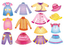 Collection of children's clothing Stock Image