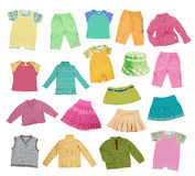 Collection of children's clothing Stock Photography