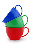 Collection of children's toys cups (Clipping path) Stock Photography