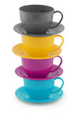 Collection of children's toys cups (Clipping path) Royalty Free Stock Photo