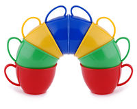 Collection of children's toys cups Stock Images