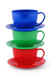 Collection of children's toys cups (Clipping path) Royalty Free Stock Images