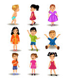 Collection of children. Vector collection of different children Stock Photography