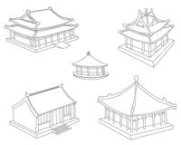 Collection of Chinese houses Stock Images