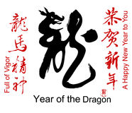 Collection of Chinese Spring Festival Words. 2012 is Year of the Dragon Stock Photography