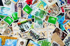 Collection of Chinese stamps Stock Photography