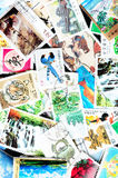 Collection of Chinese stamps Royalty Free Stock Image