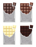 Collection of  chocolate. vector  Royalty Free Stock Image