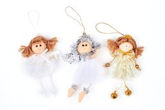 Collection of Christmas angels figurines. Stock Photography