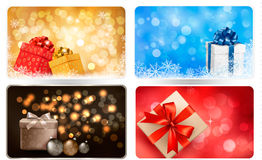Collection of Christmas backgrounds Royalty Free Stock Image