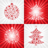 Collection Christmas Backgrounds. Vector. 4 Christmas Backgrounds, Vector Illustration Royalty Free Stock Images