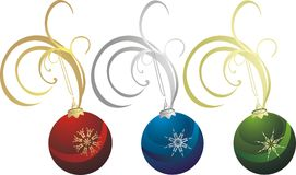 Collection of Christmas balls Royalty Free Stock Photos