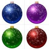 Collection of Christmas balls Stock Photos