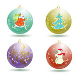 Collection of christmas balls isolated on white. Collection of christmas balls isolated vector illustration Royalty Free Stock Photos