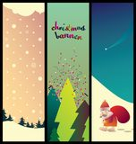 Collection of christmas banner Royalty Free Stock Photos