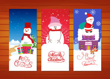 Collection of Christmas banners Royalty Free Stock Images